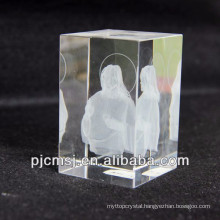 3d laser Crystal Jesus Model as Souvenir or gifts