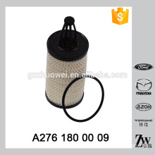 Original quality good performance filter insert type folding paper car oil cleaner OEM.A276 180 00 09,OX 814D