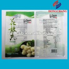Opp pe laminated plastic bag for frozen food packaging
