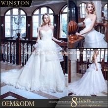 OEM-Hersteller von der Schulter Brautkleider mit Ärmeln