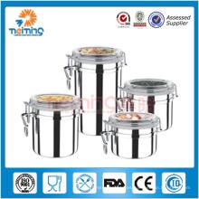 Juegos de recipiente hermético de cocina de acero inoxidable de 4 pulgadas