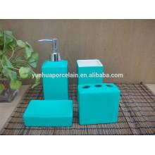 Набор для ванной и голубой керамический набор для ванной