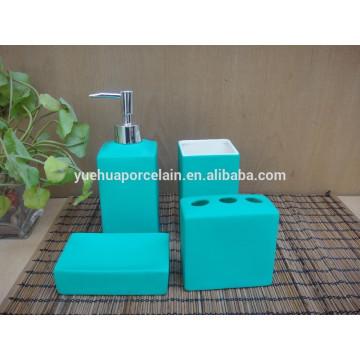 Accesorio de baño y baño de cerámica azul conjunto de regalo