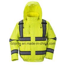 Winter High Visibility Safety Jacket Reflective Workwear