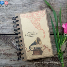 Notebook espiral personalizado com capa dura personalizada