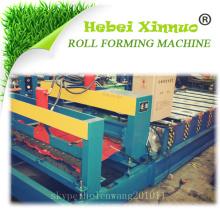 Hebei xinnuo hochwertige Stahl Dachziegel Roll Formmaschine