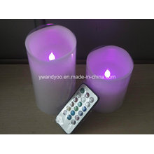 Lila Fernbedienung LED Kerze
