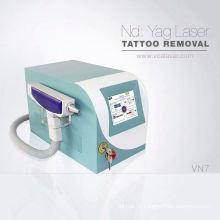 máquina portátil da remoção do cabelo e da tatuagem do laser do q-interruptor