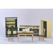 Supply for for Wooden Dollhouse Furniture Set 1/12 dollhouse miniature kitchen set export to India Factory