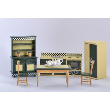 China New Product for Modern Dollhouse Furniture Set 1/12 dollhouse miniature kitchen set supply to Poland Factories