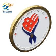 Großhandelsantike-kundenspezifischer freier Entwurf des Entwurfs-3D kundenspezifische weiche Emaille-Herausforderung Hersteller-preiswerte kundenspezifische Münze