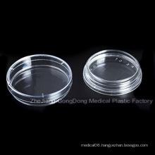 CE and FDA Certificated Plastic Petri Dish 70*15mm