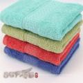 Uso doméstico colorido jacquard cetim algodão macio toalha de banho set