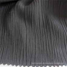 Tela viscosa crepé negra de tela de rayón Spandex para prendas de vestir
