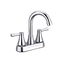 Favorable price 304SS Flexible Hose Sink mixer, Two Handles Chrome plating South Amercian style basin faucet