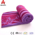 China factory promotional cheap super soft polar fleece blanket