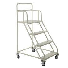 Metallischer Lager-Plattform-Leiter-Laufkatze mit großer Kapazität