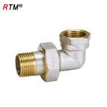 B17 4 14 conector de tubo codo codo de compresión de latón codo hembra-varón