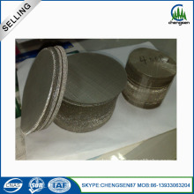 90mm 316l berpori stainless steel filter disc