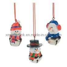 Decoração pendurada de Natal Bell para presentes de lembrancinha