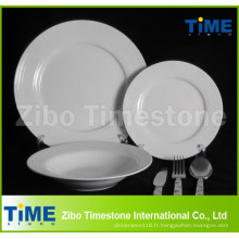 Ensemble de dîner blanc en porcelaine fine 32PC avec ensemble de couverts (WD-004)