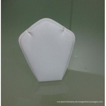 Graviertes Leder PU Metall Schmuck Halskette Display Stand (AIO-RD-1)