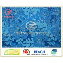 Impression de style Fleur à la fibre bleue simple, tissu de vêtement (ZCGP048)