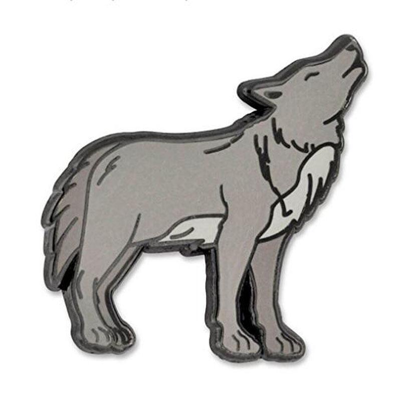Wolf Enamel Lapel Pin