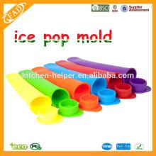 FDA genehmigt BPA freie ECo-freundliche runde Kappe Silikon Popsicle Form