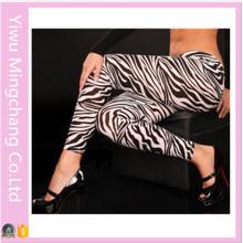 2016 Wholesale Plus Size Irregular Black and White Zebra Leggings