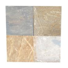 Baldosa de piedra beige natural de la pizarra de los 40 × 40cm