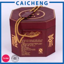Таможня напечатала цилиндр коробка чая упаковывая картонная коробка с ручкой