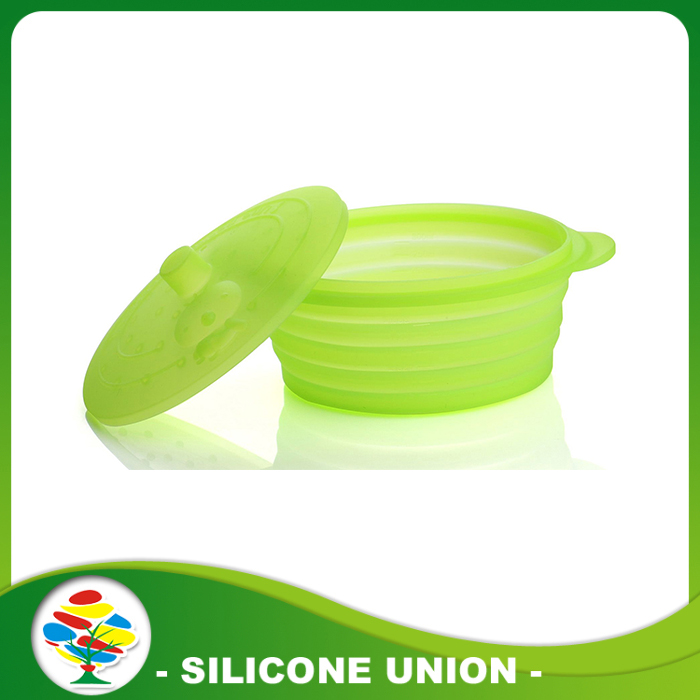 light green silicone bowl