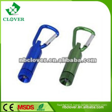 12000-15000MCD aluminum carabiner mini led flashlight