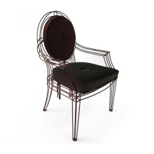 American-style leisure stainless steel armchair