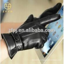 Moda caliente mejor Smartphone de cuero / guantes de pantalla táctil