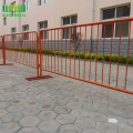 cheap+price+powder+coated+flat+feet+control+barrier