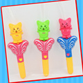 Plastic Cat Musical Handle Toy with Candy Confectionary
