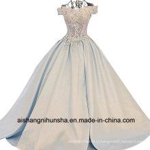 Женщин Атласные Кружева Цветок Длинное Вечернее Платье Выпускного Вечера