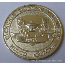 3D Gold Plating Customized College Coin