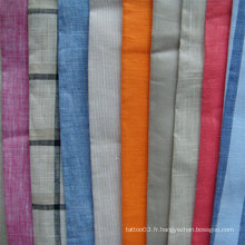 Tissu de lin pur de haute qualité