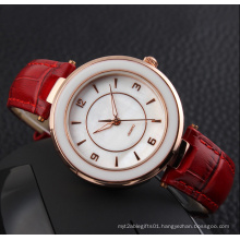 Genuine Leather Vogue Lady Fashion Watch