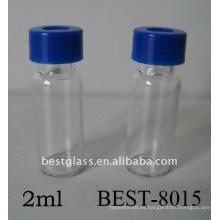 Vial de automuestreador de tornillo de 1.5 ml / 2 ml, vial de automuestreador de HPLC, vial de muestreador automático transparente