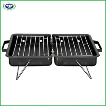 Double Side Box Shape Charcoal BBQ Grill