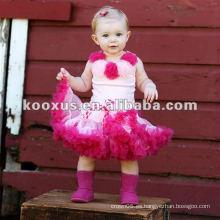 Vestido de cumpleaños de la falda del partido de las niñas de bebé Pettiskirt de la tarde