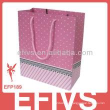2014 bolsa de regalo de joyería de cartón colorido para la venta al por mayor