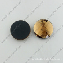 Shiny Decorative Flat Back Round Glass Stones for Dress