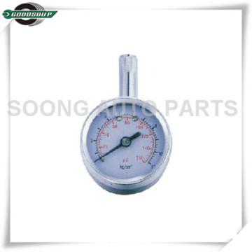 Medidor de presión de neumáticos de metal del cuerpo del vástago de latón