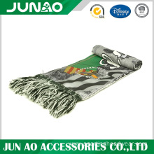 Polyester football fans scarf with logo