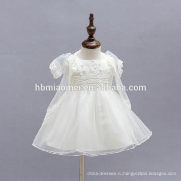 Прекрасный ребенок слоистых туту платье свадьбы Пасхи Junior невесты милый младенческой малыша рождественские платья с тюль каппа